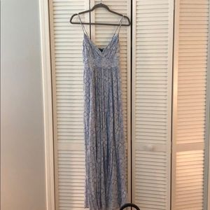 New Look Blue & White Printed Maxi Dress